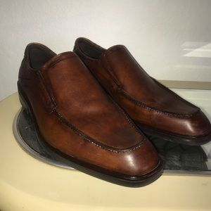 ECCO men's brown genuine leather dress shoes